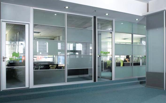 办公室玻璃隔断-成品6