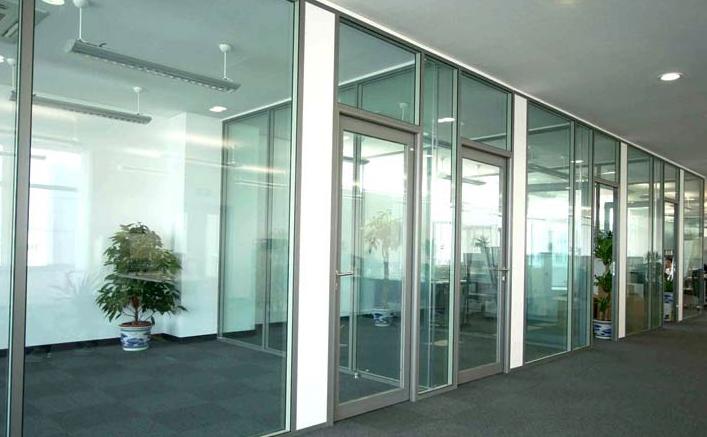 办公室玻璃隔断-成品7