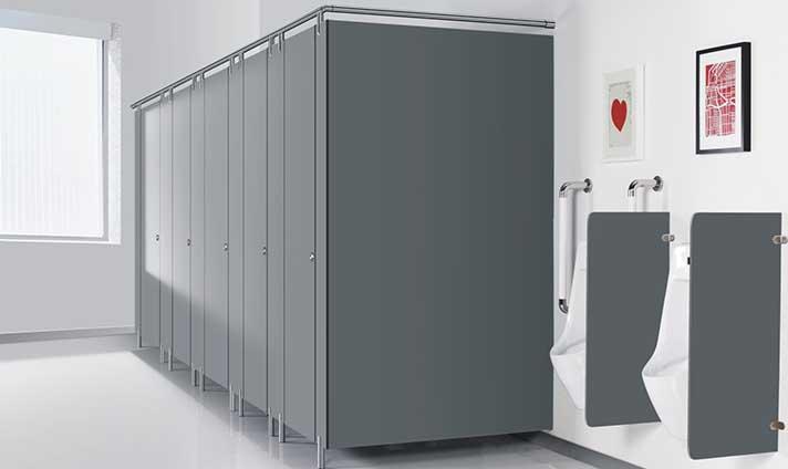 不锈钢配件卫生间隔断-成品7