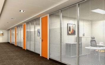 办公室玻璃隔断-成品4