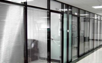 办公室玻璃隔断-成品5
