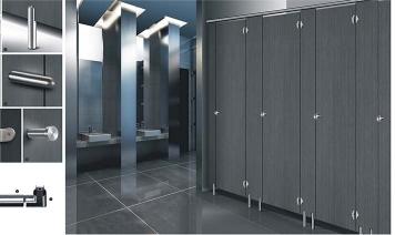 不锈钢配件卫生间隔断-成品6