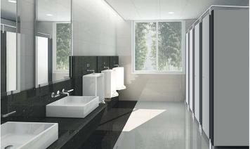 不锈钢配件卫生间隔断-成品4